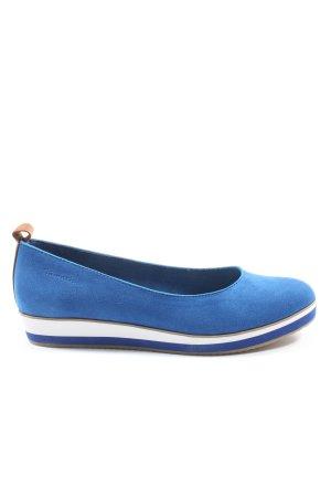 Tamaris Klassische Ballerinas blau-weiß Casual-Look
