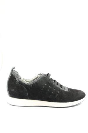 Tamaris Schlüpfsneaker schwarz-silberfarben Casual-Look