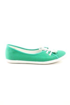 Tamaris Schlüpfsneaker grün-weiß Casual-Look