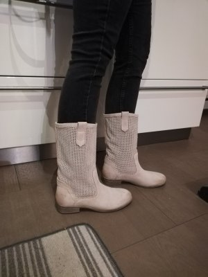 Tamaris Slouch Boots natural white