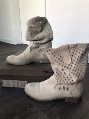 Tamaris Slouch Boots oatmeal leather