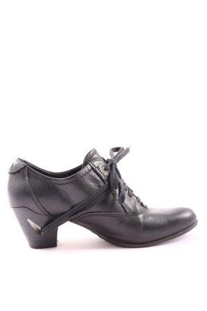 Tamaris Tacones con cordones negro estilo «business»