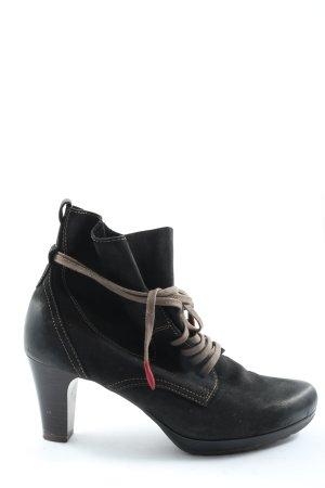 Tamaris Schnür-Stiefeletten schwarz Elegant