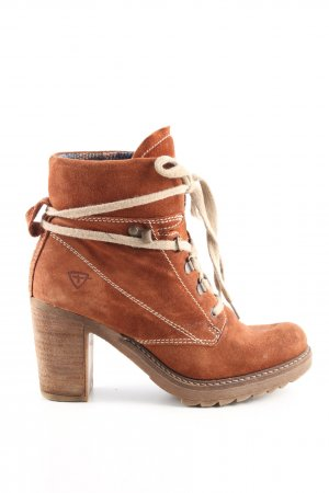 Tamaris Lace-up Booties brown casual look
