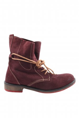 Tamaris Lace-up Booties red casual look