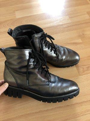 Tamaris Aanrijg laarzen zwart-donkergrijs
