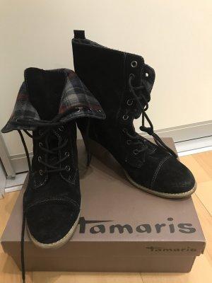 Tamaris Aanrijglaarsjes zwart-donkerrood