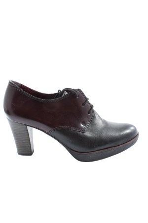 Tamaris Schnürschuhe braun-schwarz Elegant