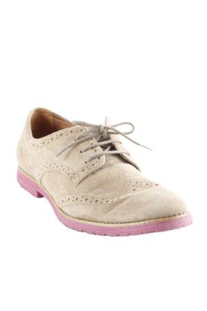 Tamaris Schnürschuhe beige-pink Casual-Look