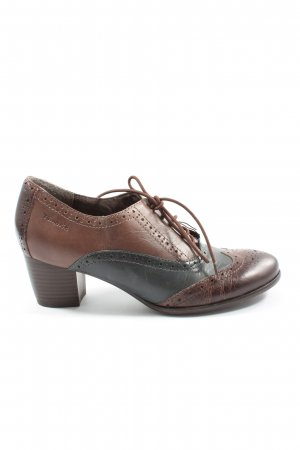 Tamaris Lace Shoes brown-black elegant