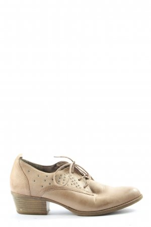 Tamaris Zapatos brogue crema look casual
