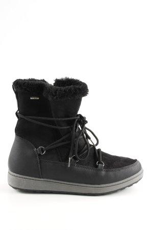 Tamaris Bottes à lacets noir style décontracté