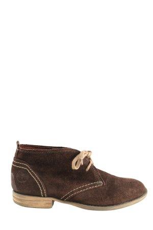 Tamaris Bottes à lacets brun style décontracté