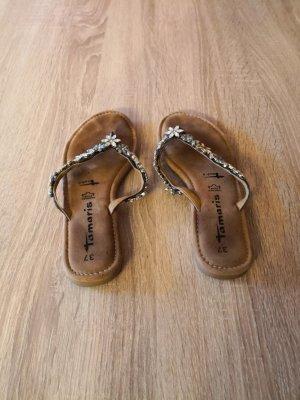 Tamaris Sandalo toe-post marrone