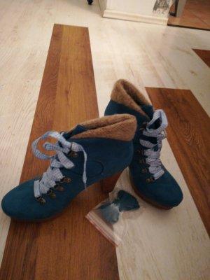 Tamaris Tacones con cordones azul