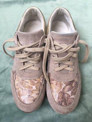 Tamaris Schuhe Schnürschuhe Sneaker beige braun 37