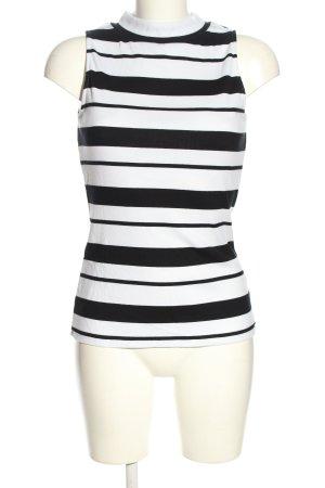Tamaris Top spalle scoperte bianco-nero motivo a righe stile casual