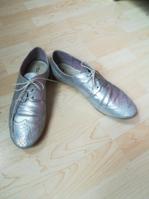 Tamaris Silber Schuhe Brogues