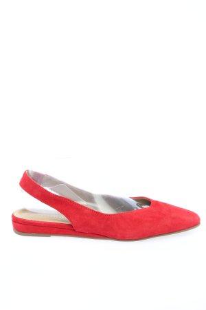 Tamaris Ballerina aperta sul tallone rosso stile casual