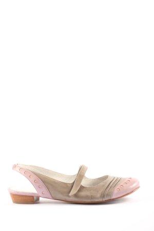 Tamaris Ballerine à bride arrière brun-rose style décontracté