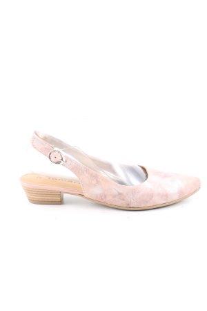 Tamaris Bailarinas sin talón rosa moteado elegante