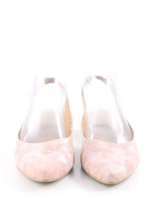 Tamaris Ballerina aperta sul tallone rosa puntinato elegante
