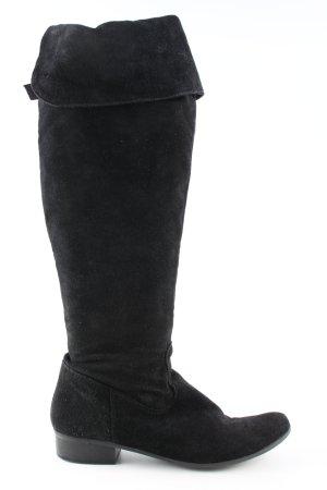 Tamaris Bottes plissées noir style décontracté