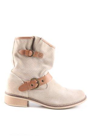 Tamaris Ocieplane botki kremowy-brązowy W stylu casual