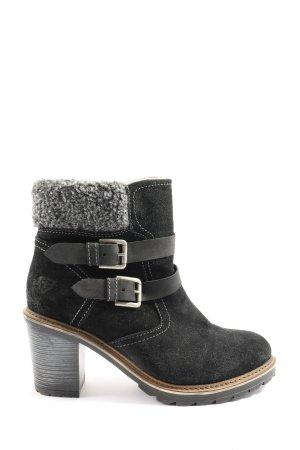Tamaris Bottines plissées noir-gris clair style décontracté