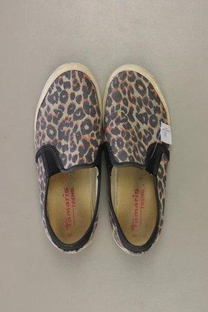 Tamaris Sneaker Größe 39 mit Tierdruck braun