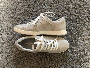 Tamaris Chaussure skate argenté-beige