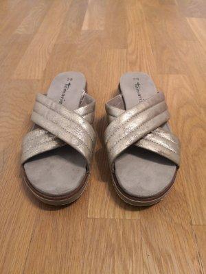 Tamaris Sommerschuhe Sandalen 39 Damen Gold