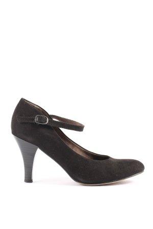 Tamaris Gesp-pumps zwart zakelijke stijl