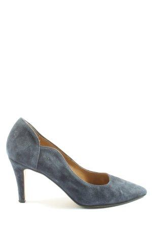 Tamaris Spitz-Pumps blau Business-Look