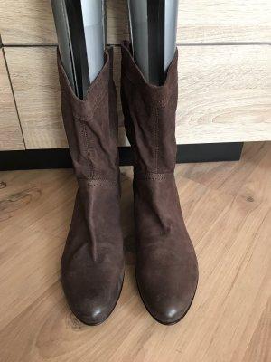 Tamaris Bottines plissées brun foncé