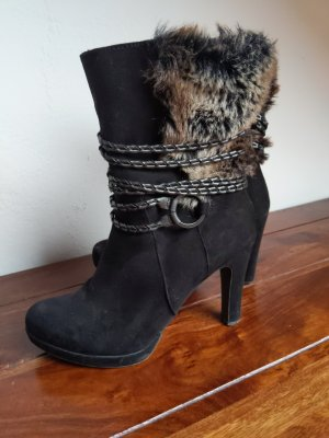 Tamaris Stiefel Stiefeletten schwarz  Größe 37 Absatz 9,5 cm