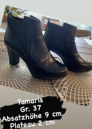 Tamaris Stivaletto con plateau nero