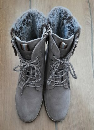Tamaris Lace-up Booties multicolored leather