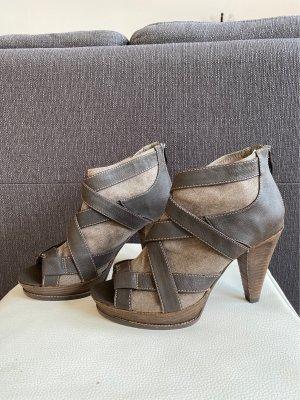 Tamaris Peep Toe Booties light brown