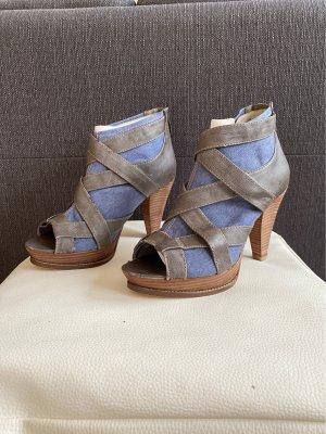Tamaris Peep Toe Booties cornflower blue