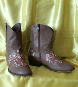 Tamaris Botines estilo vaquero marrón claro