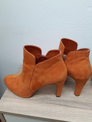 Tamaris Platform Booties neon orange-orange leather