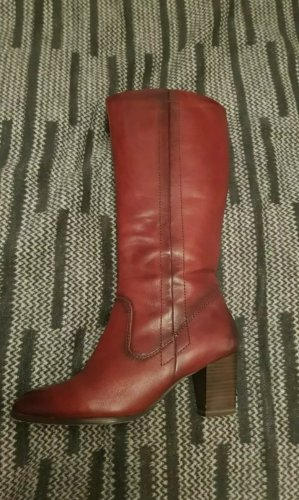 Tamaris Heel Boots dark red