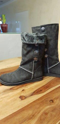 Tamaris Botas estilo militar gris oscuro