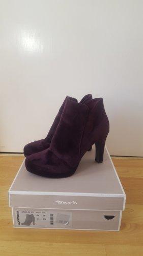 Tamaris Bottines à plateforme violet tissu mixte