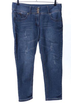 Tamaris Straight-Leg Jeans blau Casual-Look