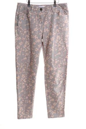 Tamaris Pantalone elasticizzato rosa-crema motivo astratto stile casual