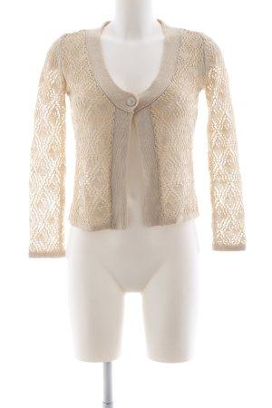 Tamaris Giacca in maglia crema stile casual