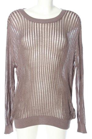 Tamaris Pull tricoté brun motif rayé style décontracté