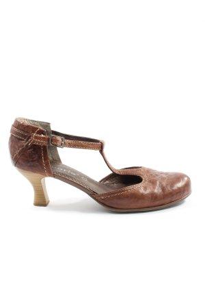 Tamaris T-Strap Pumps brown casual look